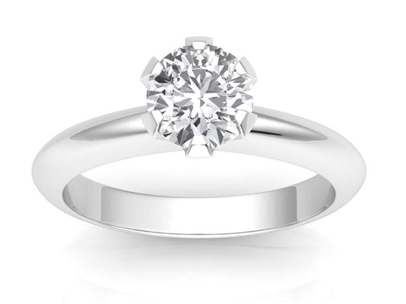 0.70 carat Platinum - Classic Six-Prong /Six-Claw Engagement Ring