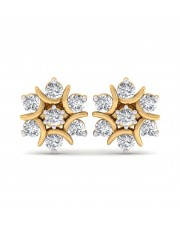 The Nova Naksh Earrings - 10 cent diamonds