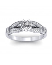1.21 carat White Gold - Nelly Engagement Ring
