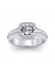 0.80 carat White Gold - Amanda Engagement Ring