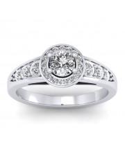1.37 carat White Gold - Azzario Engagement Ring