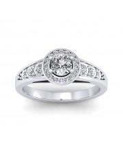 0.62 carat White Gold - Azzario Engagement Ring