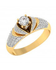 0.82 carat Yellow Gold - Dina Pave Engagement Ring