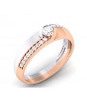 0.47 carat White & Rose Gold - Scarlett Engagement Ring