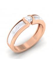 0.24 carat White & Rose Gold - Renee Engagement Ring