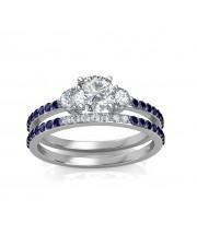 0.81 carat Platinum - Athena Engagement Ring and Wedding Band Set