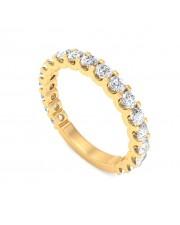 Yellow Gold U Prong 3/4 Eternity Ring - 5 cent diamonds