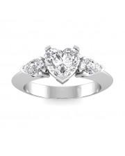 0.90 carat White Gold - Anastasia Engagement Ring