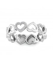 The Nia Heart Ring