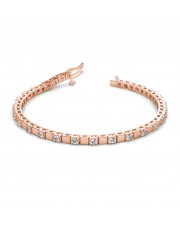 The Symphony Alternating Block Tennis Bracelet - 10 cent diamonds