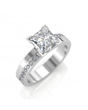 1.18 carat 18K Gold - Eternity Princess Engagement Ring