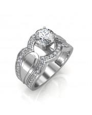 1.35 carat Platinum - Utopia Engagement Ring