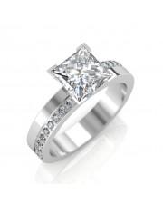 1.68 carat Platinum - Eternity Princess Engagement Ring