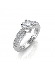 0.68 carat 18K Gold - The Ramona Heart Solitaire Ring