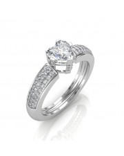 0.88 carat Platinum - The Ramona Heart Solitaire Ring