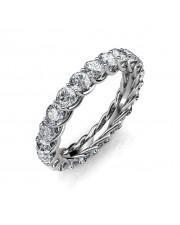 Astraea Platinum Full Eternity Ring - 10 cent diamonds