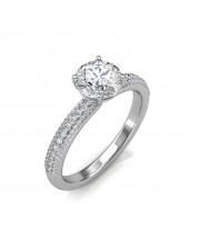 1.05 carat 18K Gold - Forever Love Engagement Ring