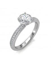 1.35 carat Platinum - Forever Love Engagement Ring