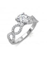 1.52 carat Platinum - Eternity Engagement Ring