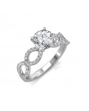 1.02 carat Platinum -  Eternity Engagement Ring