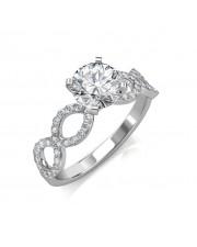 1.22 carat Platinum -  Eternity Engagement Ring