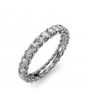 Astraea Platinum Full Eternity Ring - 5 cent diamonds