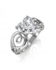 1.00 carat 18K Gold - Gelsey Engagement Ring