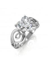 0.70 carat Platinum - Gelsey Engagement Ring