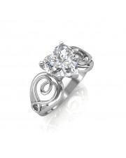 0.50 carat Platinum - Gelsey Engagement Ring