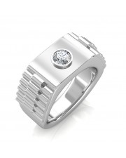 The Leopold Ring For Him - White - 0.15 carat