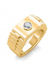 The Leopold Ring For Him - Yellow - 0.15 carat