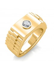 The Leopold Ring For Him - Yellow - 0.25 carat