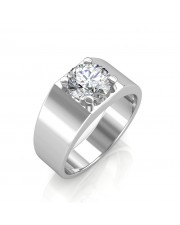 The Evergreen Solitaire Ring For Him - White - 0.20 carat