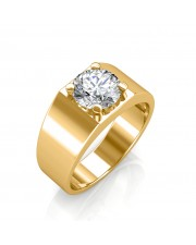 The Evergreen Solitaire Ring For Him - Yellow - 0.30 carat