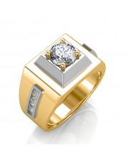 The Khufu Solitaire Ring For Him - Yellow - 0.56 carat