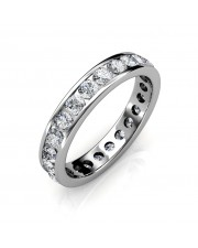 White Gold Channel Set Full Eternity Ring - 5 cent diamonds