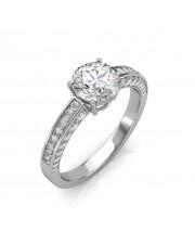 0.92 carat 18K Gold - Zest Love Engagement Ring
