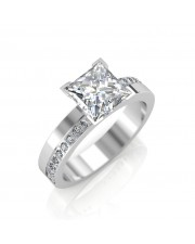 0.68 carat 18K Gold - Eternity Princess Engagement Ring