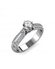 0.72 carat Platinum - Forever Promise Engagement Ring