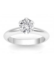 1.00 carat 18K Gold - Classic Six-Prong /Six-Claw Engagement Ring