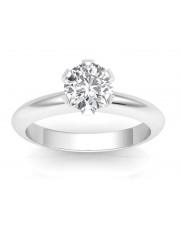 1.00 carat Platinum - Classic Six-Prong /Six-Claw Engagement Ring