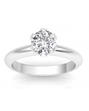 1.50 carats 18K Gold - Classic Six-Prong /Six-Claw Engagement Ring