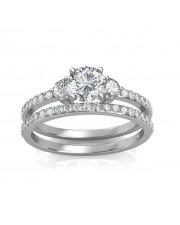 1.78 carat White Gold - Sylvia Engagement Ring and Wedding Band Set