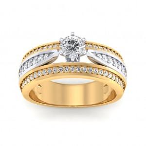 Amber Tri-Band Ring
