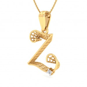 The 'Z' Alphabet Pendant