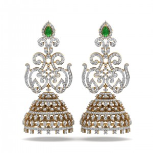 The Roksana Jhumka Earrings