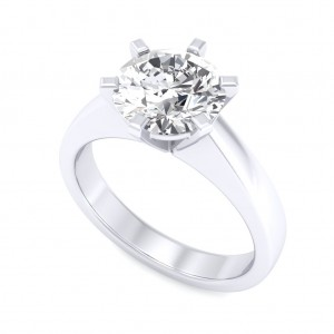 1.00 carat 18K White Gold - Neo Six-Prong/Six-Claw Engagement Ring
