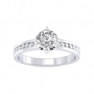 0.70 carat Platinum - Jeannot Engagement Ring