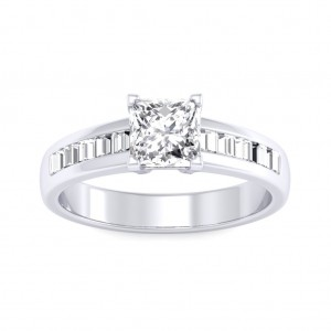 0.70 carat 18K White Gold - Charlene Engagement Ring