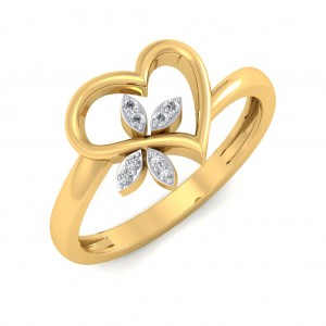 The Clover Heart Diamond Ring